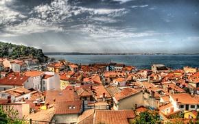 Picture building, home, roof, Piran, Slovenia, Slovenia, The Adriatic sea, Piran, The Bay of Piran, Adriatic …