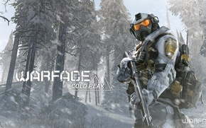 Picture forest, snow, soldiers, equipment, Warface