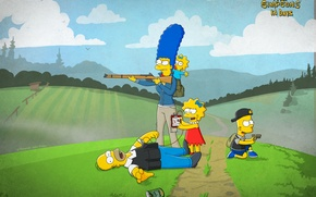 Picture Homer, Bart, Lisa, Breaking bad, The simpsons