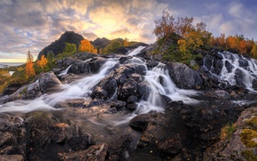 Picture water, rocks, waterfalls, Norway