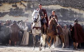 Picture cinema, wallpaper, Risen, sword, blood, soldier, man, movie, blade, horse, film, cover, warrior, pearls, roman, …