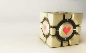Picture heart, cube, portal