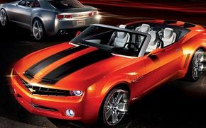 Picture art, supercar, convertible, camaro, chevrolet