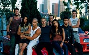 Wallpaper Vin Diesel, Paul Walker, Matt Schulze, The Fast and the Furious, Mia Toretto, Dominic Toretto, ...