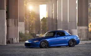 Picture blue, tuning, honda, Honda, low, s2000