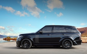 Picture Land Rover, Range Rover, Sky, Black, Tuning, Lumma Design