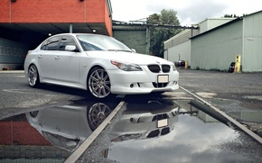 Picture Machine, Tuning, White, Desktop, Car, Car, Beautiful, Bmw, Wallpapers, Tuning, Beautiful, E60, BMW, E60, Wallpaper