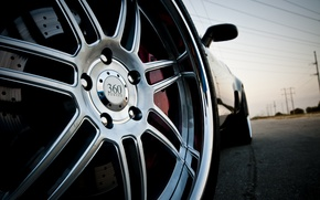 Wallpaper machine, wheel, disk, corvette, chevrolet