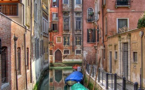 Wallpaper Venice, boats, water, home