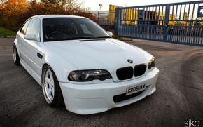 Picture tuning, bmw, BMW, white, white, tuning, power, germany, low, stance, e46