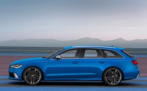 Picture car, Audi, blue, wallpapers, Before, RS6