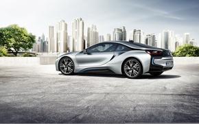 Picture car, auto, the city, BMW, auto wallpaper, BMW i8