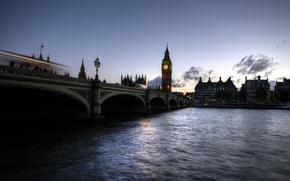 Picture bridge, river, watch, London, home, Gib-Ben