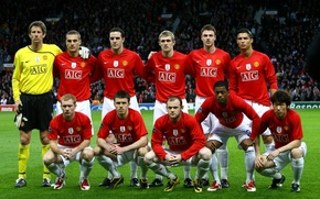 Wallpaper Photo, Red, Wayne Rooney, Football, Club, Manchester United, Manchester United, Nemanja Vidic, Edwin van der ...