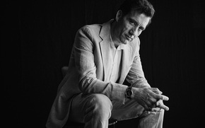 Picture actor, black and white, black background, Clive Owen, Clive Owen, The New York Times, NY …