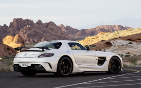 Picture White, Machine, Mercedes, Car, Car, Mercedes Benz, AMG, SLS, White, Wallpapers, New, Beautiful, Black Series, ...