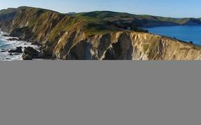 Picture sea, the sky, nature, rocks, Cape
