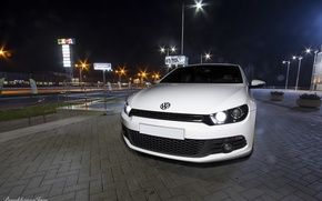 Picture volkswagen, white, tuning, germany, Scirocco