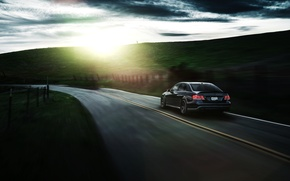 Picture Mercedes-Benz, Nature, California, Motorsport, Summer, Sonic, E63, Rear, Ligth, Nigth, AMG S