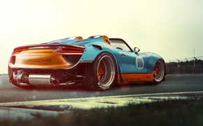 Picture Porsche, Race, Power, Spyder, 918, Supercar, Track, Wide