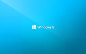 Picture logo, microsoft, logo, blue background, blue, brand, hi-tech, windows 8