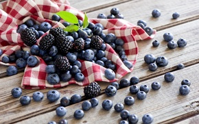 Picture summer, berries, table, blueberries, BlackBerry, napkin, Anna Verdina