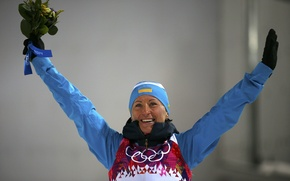 Picture Ukraine, Biathlon, Sochi 2014, The XXII Winter Olympic Games, Vita Semerenko