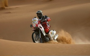 Wallpaper race, motorcycle, sport, sand