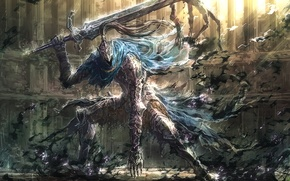 Wallpaper game, sword, art, armor, dark souls, upscale, knight artorias, knight arteries, artorias the abysswalker, the ...