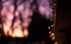Picture lights, background, holiday, widescreen, Wallpaper, mood, new year, blur, wallpaper, new year, widescreen, background, full …