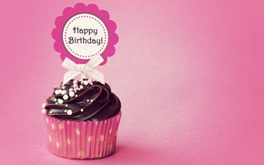Wallpaper birthday, cupcake, cupcake, Happy, Birthday