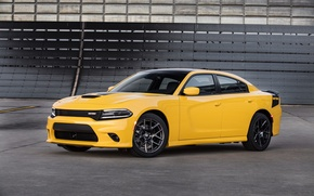 Picture car, auto, yellow, Dodge, Charger, the front, nice, Daytona