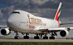 Wallpaper Boeing, 747, Emirates, Boeing