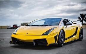 Picture Lamborghini, Superleggera, Gallardo, the front, Yellow, Supercar