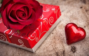 Picture box, gift, rose, love, rose, heart, flowers, romantic, Valentine's Day, gift