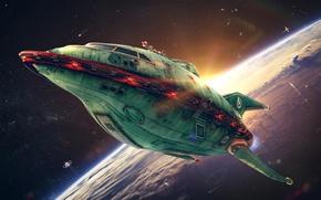 Picture space, space, Futurama, Futurama, Planet Express, Spaceship, Planetary Express
