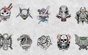 Picture Slipknot, Joker, Diablo, Katana, Deadshot, Harley Quinn, Killer Croc, Boomerang, Enchantress, Suicide Squad, Suicide Squad, …
