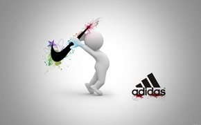Picture Adidas, battle, brand, Nike, photo.