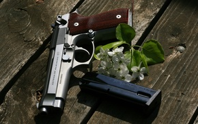 Picture gun, weapons, Board, Beretta, self-loading