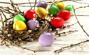 Picture photo, Branches, Easter, Eggs, Holiday