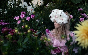 Picture girl, flowers, style
