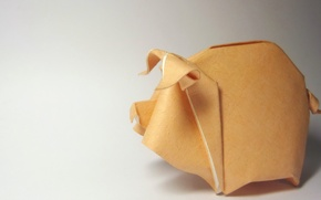 Picture background, Origami, Piggy