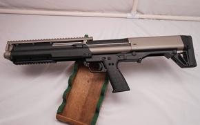 Picture gun, weapon, wood, shotgun, Titanium, Kel-Tec, Kel Tec, KSG 12, Kel tec KSG, Kel-tec-KSG, Kel-Tec …