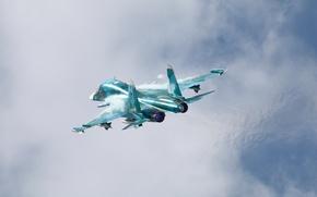 Picture the sky, flight, fighter, bomber, Su-34