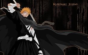 Picture sword, Bleach, bleach, Kurosaki Ichigo, katana, boy, ichigo, Ichigo Kurosaki, orange hair, shinigami, kurosaki, shihakushou, …