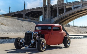 Picture Ford, Hot, Coupe, Rod, Window