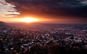 Wallpaper End Of Day, Sunset, The End Of The Day, Germany, The city