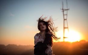 Wallpaper girl, the sun, hair, based on the movie, Jesse Duke, Twin Peaks