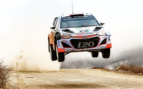 Picture Dust, Jump, Hyundai, WRC, Rally, i20