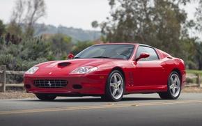 "Picture red, Ferrari, car, Ferrari, Superamerica, Handling Package, with ""Fiorano"""